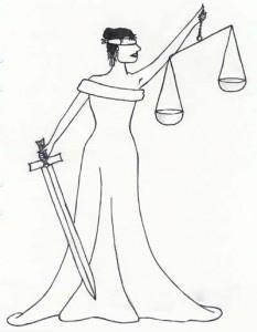 Fru Justitia er blindet. Det forklarer kanskje noe.