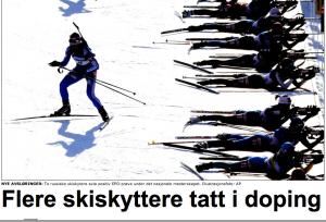 Dopet russisk skiskytter: Blinker er så kjedelige!