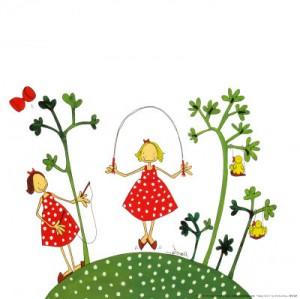 Lykkelige barn finnes både her og der....